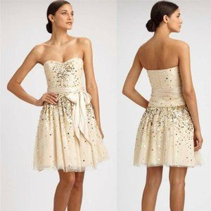 🎬✨BCBGMaxAzria Vanilla Beaded Dress Boning & Bra